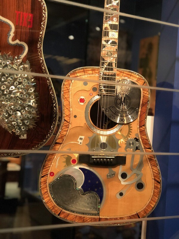 Peach Guitars at Martin HQ, Nazareth, Pennsylvania