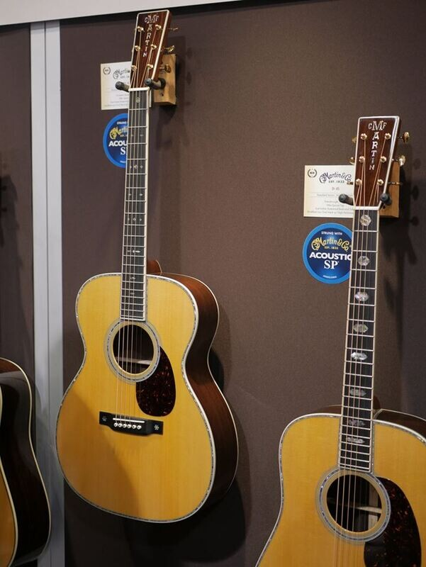 Martin guitars at NAMM