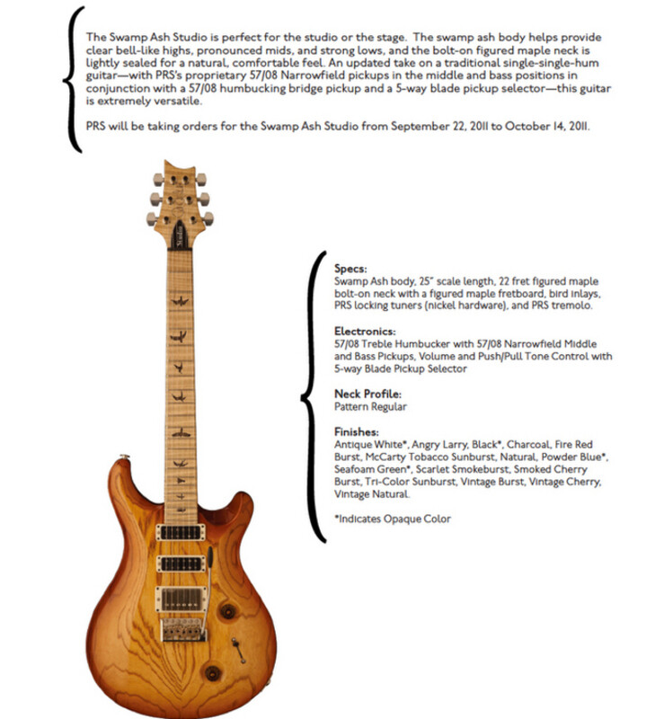 Hot New PRS Models for 2011