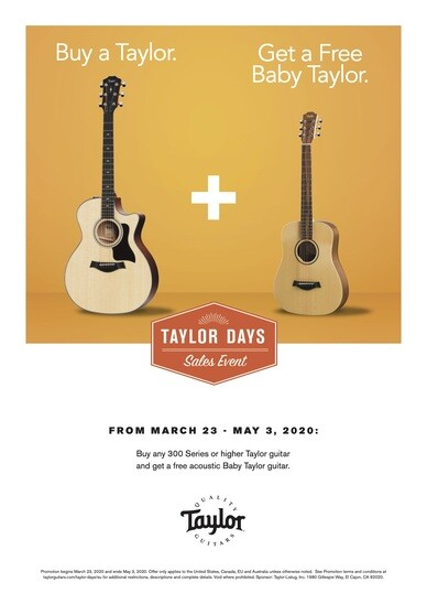 Taylor FREE Baby Taylor event!!