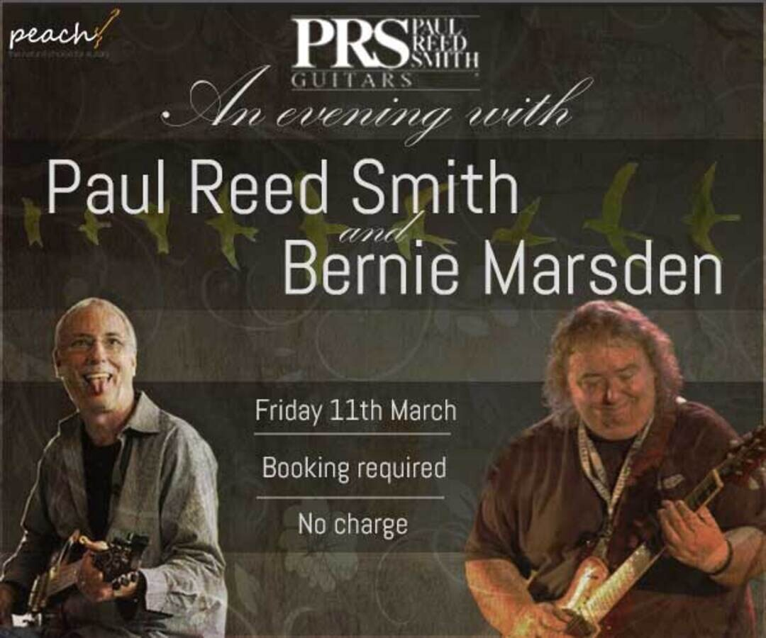 An evening with Paul Reed Smith & Bernie Marsden